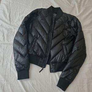 Tna light packable puffer bomber jacket